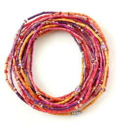 Serengeti Sunset Zulugrass Six Strands Beaded Jewelry, Jewelry Bracelets, Handmade Bracelets, Handmade Jewelry, African Jewelry, Strand Necklace, Modern Jewelry, Hair Ties, Anklet