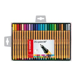 Stabilo Point 88 Fineliner Pens - Europe& number one fineliner, Stabilo produce quality pens that never let you down - for students and children Stabilo Pen 68, Stabilo Point 88, Stabilo Boss, Fine Point Pens, Fine Pens, School Supplies, Art Supplies, College Supplies, Random Stuff
