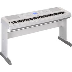 Yamaha Portable Grand Full-Size Keyboard with 88 Keys White YAM - Best Buy Yamaha Keyboard, Upright Piano, Sound Engineer, Karaoke Songs, Digital Piano, You Sound, Built In Speakers, What Is Like, Pianos