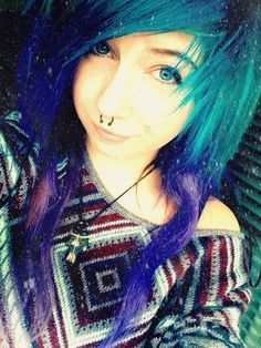 Love her hair and septum piercing.