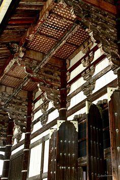 Detail on Todaiji Temple, Japan Japan Architecture, Ancient Architecture, Architecture Details, Toyama, Monuments, Palace, Asia, Wakayama, Japan Travel