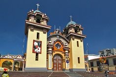 Pretty Little Cathedral on Central Plaza in Tumbes, Peru