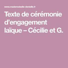 Texte de cérémonie d'engagement laïque – Cécilie et G.
