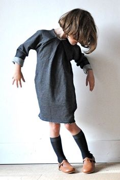 Book a Report Dress in sweatshirt fleece or french terry via @deuxpardeuxKIDS