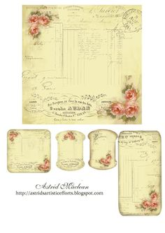 Astrid's Artistic Efforts: Friday Freebie A Rose is a Rose Papel Vintage, Vintage Tags, Vintage Labels, Vintage Ephemera, Vintage Paper, Vintage Prints, Vintage Style, Printable Labels, Printable Paper