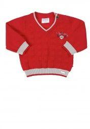 Kanz Jungen Strickpullover rot Kinder Pullover