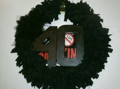 My wreath I made for Patchs party.