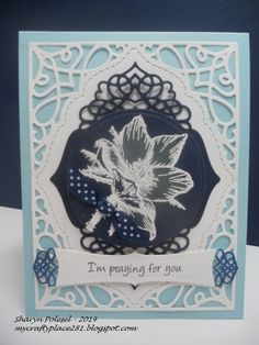 spellbinders a2 tranquil moments | decided to use In the Navy card stock. The bleach technique leaves ...