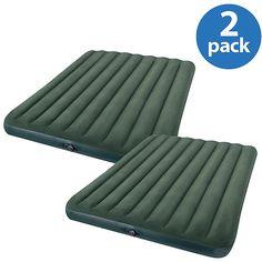 Intex Queen Fabric Airbed with Pump Value Bundle Camping Needs, Camping Gear, Air Mattress, Barcelona Chair, Floor Chair, Walmart, Packing, Pumps, Queen
