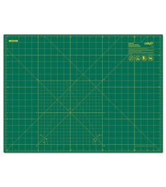 The Olfa Gridded Cutting Mat is a perfect choice to get the right cuts for your paper craft projects. This mat comes with colored grid lines to give precise measurements on one side and a solid colore