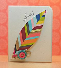 Feather Card JJ Bolton by Paper Crafts Photos, via Flickr