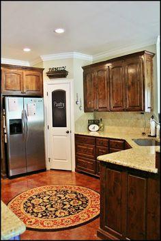 pantry door & the cabinet color