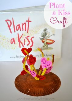 Plant a Kiss Valentines Kids Craft- Plant a Kiss Valentines Kids Craft I Heart Crafty Things iheartcrafty I Heart Crafty Things Cute Valentine's Day Kids Craft Paper Plate Crafts For Kids, Valentine's Day Crafts For Kids, Valentine Crafts For Kids, Valentines Day Activities, Art For Kids, Paper Crafts, Craft Kids, Kid Crafts, My Funny Valentine