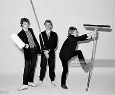News Photo : Promotional portrait of rock group the Police as...