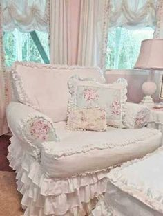 Image result for shabby chic sofa slipcovers