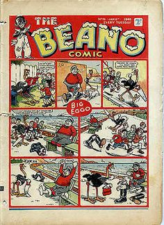 January 6, 1940 edition Beano-British comic The top longest-running comics in the world, The Dandy, The Beano,