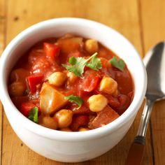 Garbanzo bean stew-love stew in winter!