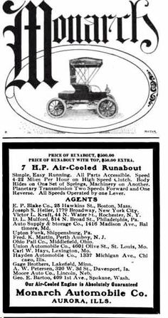 1904 Monarch Automobile Advertisement
