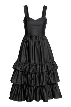 Bawełniana sukienka - Czarny - ONA | H&M PL 1
