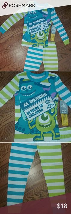 NEW Disney Store Monster's Inc pajamas set size 5 NEW with tags authentic Monsters Inc blue and green pajama pant set from the Disney Store, size 5. Disney Pajamas Pajama Sets