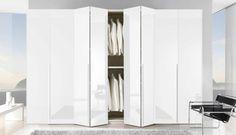 portes de placard pliantes, portes blanches