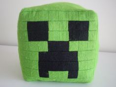 minecraft creeper pillow so easy to make