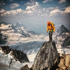 """Life on the edge. @alexhonnold contemplates the maxim """"the summit is only half way."""" @LifeProof #sponsor #LiveLifeProofm"""
