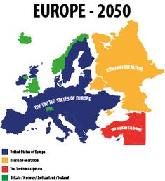 Somebody's map of 2050 Europe, possible future history. Old Maps, Antique Maps, European Map, European History, British History, One Liner Jokes, Geography Map, Map Pictures, India Map
