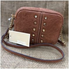 Michael Kors Uptown Astor NEW Brown Cross Body Brand. Spanking. New! Tissue hasn't even been removed from interior! Tags still attached and product card nestled in its pocket! Don't miss out!  Michael Kors Bags Crossbody Bags