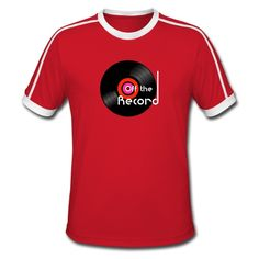 Off the Record - Men's Retro T-Shirt. Dj Music, Cool Tees, Streetwear, Gift Ideas, Guys, Retro, Mens Tops, T Shirt, Design