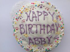 Dog Treats//Homemade Customized Birthday Cake for Dogs on Etsy, $14.00