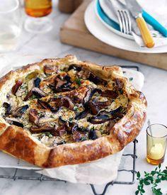 Mushroom and ricotta galette