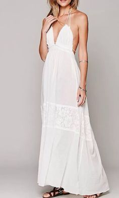This maxi white dress is so dreamy. I love it #love