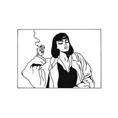 Pulp Fiction Tattoo Mia Wallace - Pulp Fiction Tattoo Mia Wallace Informations About Pulp Fiction Tattoo Mia Wallace Pin You can easil - Pulp Fiction Tattoo, Tatuagem Pulp Fiction, Pulp Fiction Art, Aesthetic Tattoo, Aesthetic Grunge, Aesthetic Art, Aesthetic Drawings, Aesthetic Black, Aesthetic Vintage