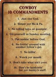 These are my kind of commandments !!!