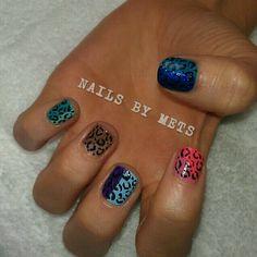 #leopardprint #colourful #nailart