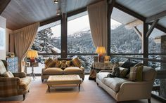 Chalet Les Brames, Meribel, France.  Luxury chalet with stunning views of the valley and team of staff including a chauffeur from Firefly Collection. www.firefly-collection.com