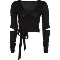 Sweaty Betty Contemporary Long Sleeve Barre Crop Top (€83) ❤ liked on Polyvore featuring tops, dance, shirts, black and sweaty betty