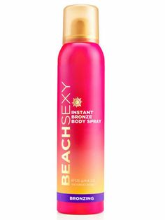 Non-Commital Color:  Victoria's Secret Airbrush Beach Sexy Instant Bronze Body Spray, $12.  Comes off easily with soap and water.