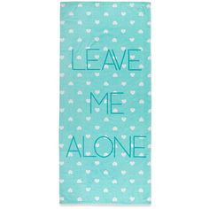 Forever 21 Leave Me Alone Beach Towel ($11) ❤ liked on Polyvore featuring home, bed & bath, bath, beach towels, cotton beach towels and forever 21
