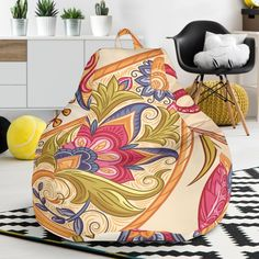 Royal Paisley Bean Bag Chair – This is iT Original Bag Chairs, Bean Bag Chair, Accent Chairs, Paisley, Beans, Relax, Just For You, Lovers, House Design