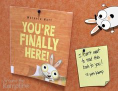 They're Finally Here! First week of school activities with You're Finally Here! by Melanie Watt.