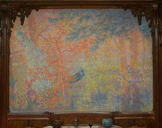 Lucien Lévy-Dhurmer (1865-1953) & Édouard-Louis Collet (1876-1961) (Framed Paneling) - The Wisteria Dining Room Mural. Designed for the Home of Auguste Rateau, 10 Avenue Élysée-Reclus. Paris, France. Circa 1910-1914. Metropolitan Museum of Art, New York.