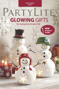 NEW #PartyLite Glowing Gifts Catalog. #Christmas #candles