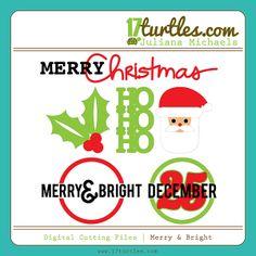 Merry & Bright Free Digital Cutting File