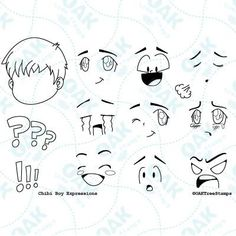 Use any of the 9 expressions on the base face to express yourself on journals and cards. Set of high quality clear photopolymer stamps. This stamp set measures 4 inches by 6 inches. Coordinates with t