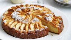 Italian apple cake with Grand Marnier mascarpone. The apple cake can be made with pear or quince if desired. Apple Desserts, Apple Recipes, Just Desserts, Sweet Recipes, Cake Recipes, Dessert Recipes, Apple Cakes, Baking Recipes, Food Cakes