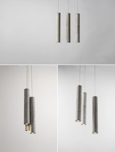 Cement Series Lighting by Bentu Design at Salone Satellite 2013 | Yellowtrace.