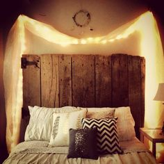 Love the headboard and the lights!