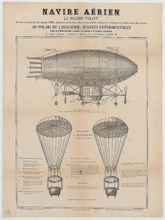 Camille Vert's dirigible (1860) LOC by kitchener.lord, via Flickr